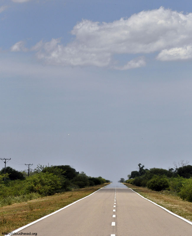 heat rising, hot road, road to the Chaco Salteño, mirage
